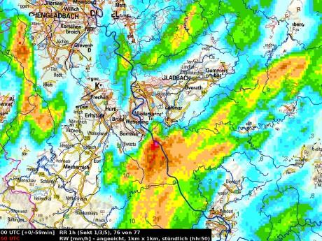 Regenradar (Quelle: DWD)
