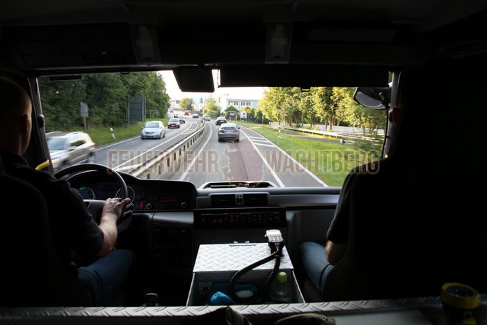 Gerätewagen unterwegs nach Wachtberg