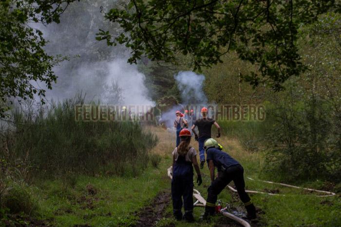 24h Übung Jugendfeuerwehr Wachtberg in der Wahner Heide 06